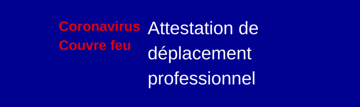 Attestation deplacement